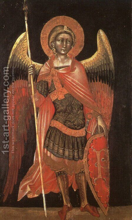 Angel 1354 by Guariento di Arpo - Reproduction Oil Painting