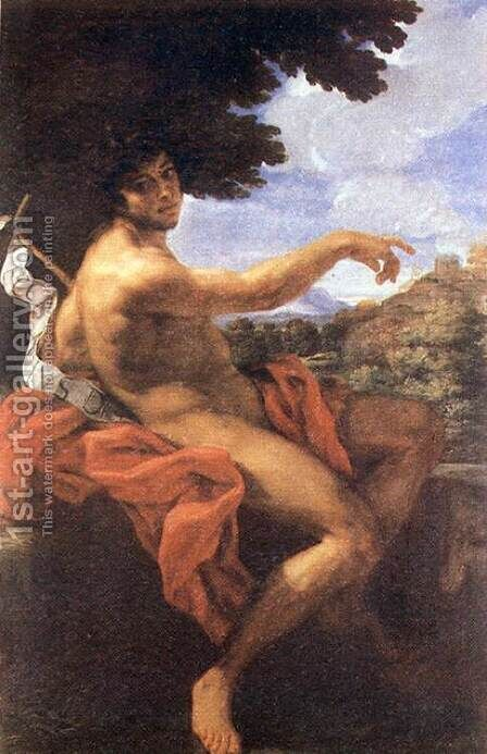 St John the Baptist c. 1676 by Baciccio II - Reproduction Oil Painting