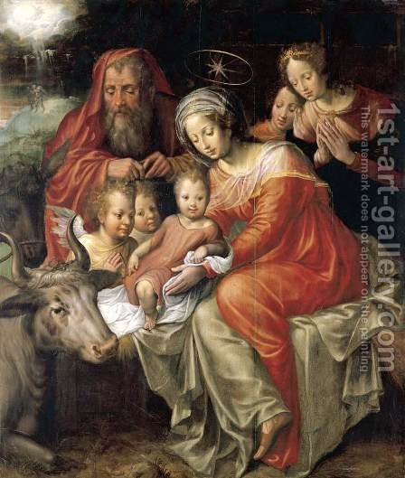 The Nativity 2 by Jacob De Backer - Reproduction Oil Painting