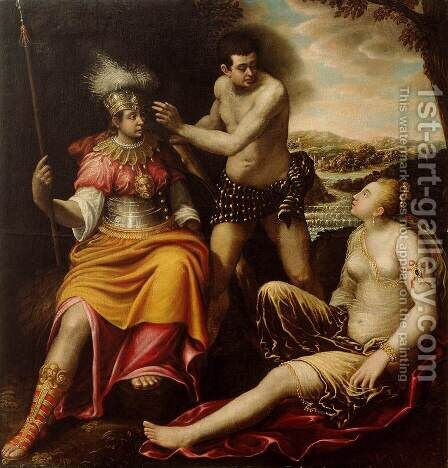 Hercules at the Crossroads 1640-42 by Giovanni Baglione - Reproduction Oil Painting