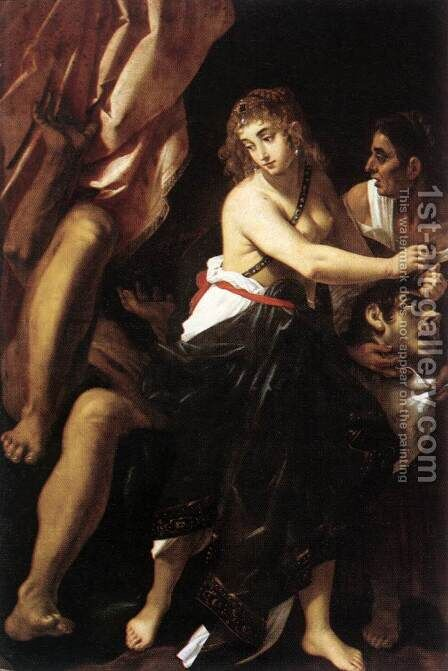 Judith and the Head of Holofernes 1608 by Giovanni Baglione - Reproduction Oil Painting
