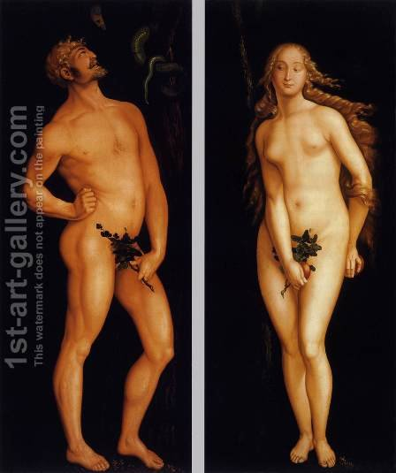 Adam and Eve 1524 by Hans Baldung  Grien - Reproduction Oil Painting