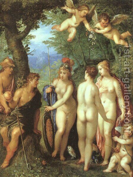 The Judgement of Paris 1599 by Hendrik van Balen, I - Reproduction Oil Painting
