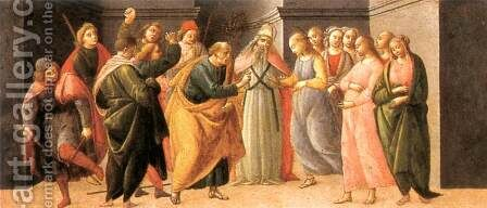Predella: Marriage of Mary 1488 by Bartolomeo Di Giovanni - Reproduction Oil Painting