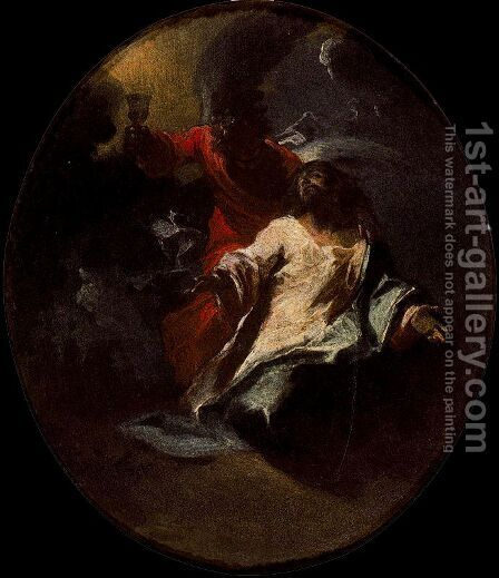 The Agony of Christ in the Garden by Giuseppe Bazzani - Reproduction Oil Painting