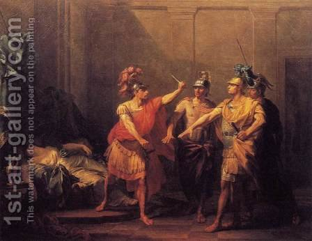 The Oath of Brutus 1771 by Jacques-Antoine Beaufort - Reproduction Oil Painting