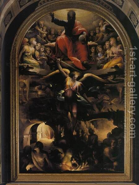 Fall of the Rebel Angels c. 1528 by Domenico Beccafumi - Reproduction Oil Painting