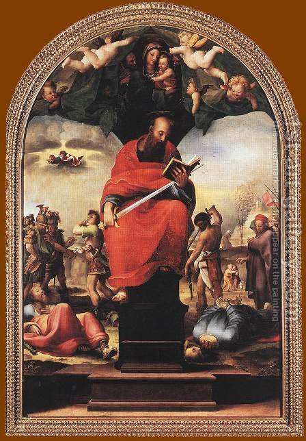 St Paul c. 1515 by Domenico Beccafumi - Reproduction Oil Painting