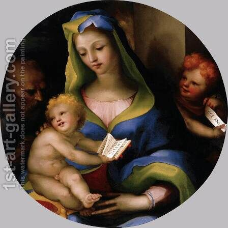The Holy Family with Young Saint John 1523-24 by Domenico Beccafumi - Reproduction Oil Painting
