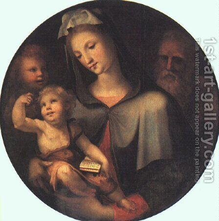 The Holy Family with Young Saint John 1530 by Domenico Beccafumi - Reproduction Oil Painting
