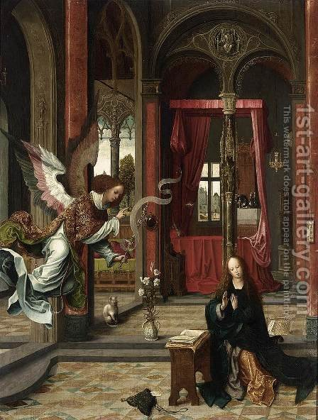 Annunciation by Jan de Beer - Reproduction Oil Painting