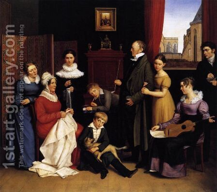 The Begas Family 1821 by Carl the Elder Begas - Reproduction Oil Painting