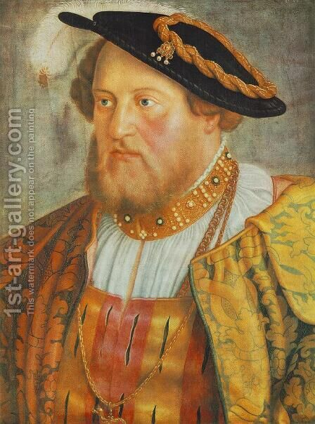 Portrait of Ottheinrich, Prince of Pfalz 1535 by Barthel Beham - Reproduction Oil Painting