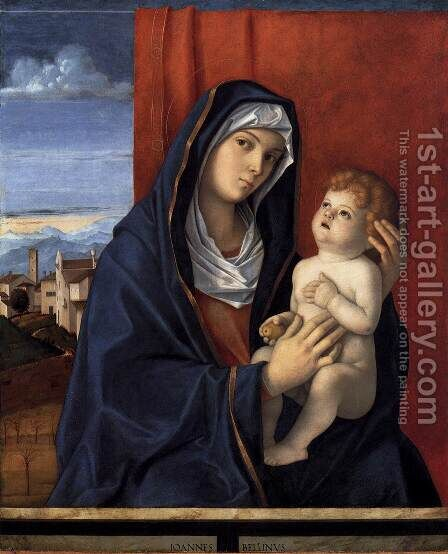 Madonna and Child 1485-90 by Giovanni Bellini - Reproduction Oil Painting