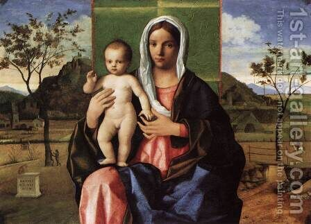 Madonna and Child Blessing 1510 by Giovanni Bellini - Reproduction Oil Painting