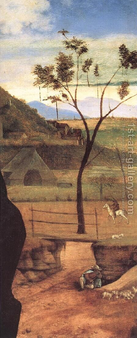Madonna and Child Blessing (detail) 1510 by Giovanni Bellini - Reproduction Oil Painting