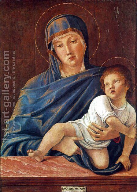 Madonna with the Child 1460-64 2 by Giovanni Bellini - Reproduction Oil Painting