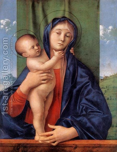 Madonna with the Child 1487 by Giovanni Bellini - Reproduction Oil Painting