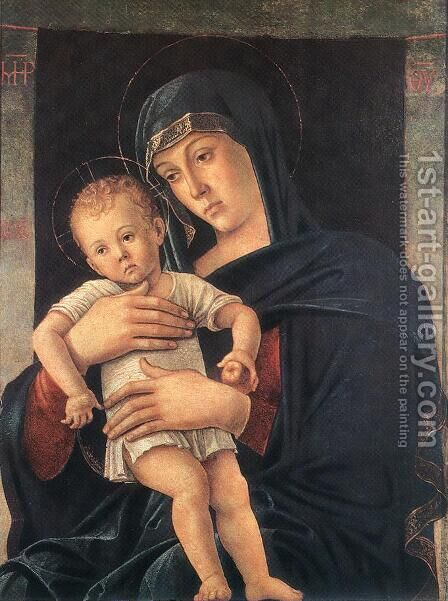 Madonna with the Child (Greek Madonna) 1460-64 by Giovanni Bellini - Reproduction Oil Painting