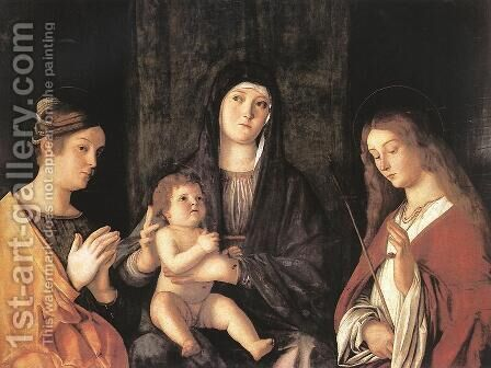 Sacred Conversation 1490 by Giovanni Bellini - Reproduction Oil Painting