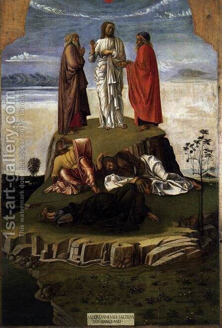 Transfiguration of Christ c. 1455 by Giovanni Bellini - Reproduction Oil Painting