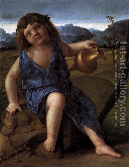 Young Bacchus c. 1514 by Giovanni Bellini - Reproduction Oil Painting