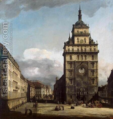 The Kreuzkirche in Dresden 1747-56 by Bernardo Bellotto (Canaletto) - Reproduction Oil Painting