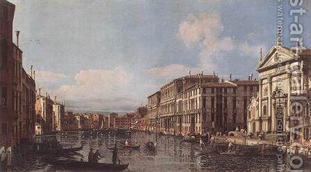 View of the Grand Canal at San Stae by Bernardo Bellotto (Canaletto) - Reproduction Oil Painting