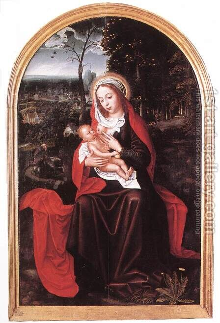 Rest on the Flight into Egypt by Ambrosius Benson - Reproduction Oil Painting