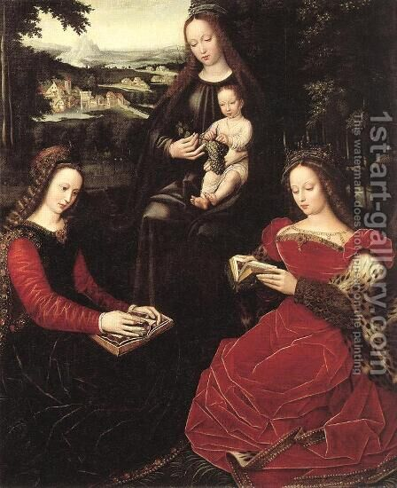 Virgin and Child with Saints by Ambrosius Benson - Reproduction Oil Painting