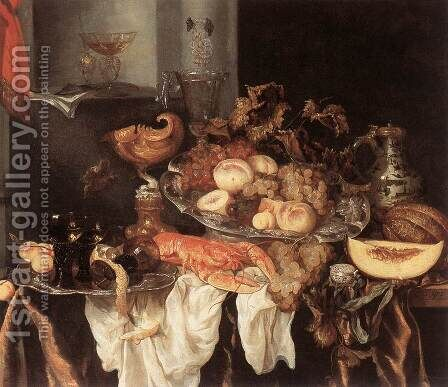 Still-Life 2 by Abraham Hendrickz Van Beyeren - Reproduction Oil Painting