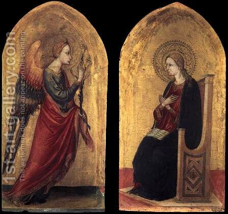 The Angel and the Virgin of Annunciation 1433-34 by Bicci Di Lorenzo - Reproduction Oil Painting