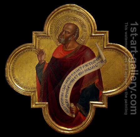 St Mark 1398 by Bicci Lorenzo di - Reproduction Oil Painting