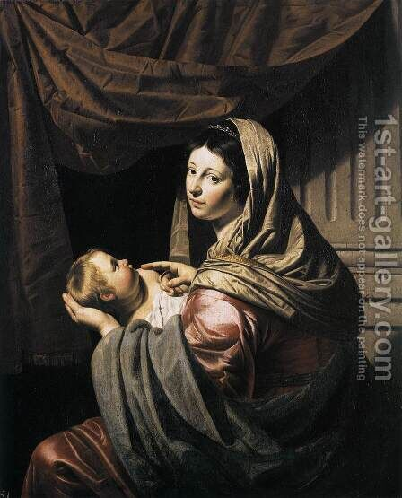 Virgin and Child c. 1635 by Jan Hermansz. van Biljert - Reproduction Oil Painting