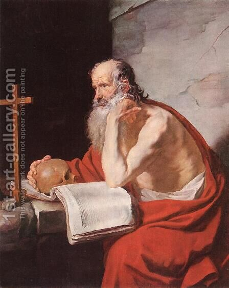 St Jerome 1632 by Jacques Blanchard - Reproduction Oil Painting