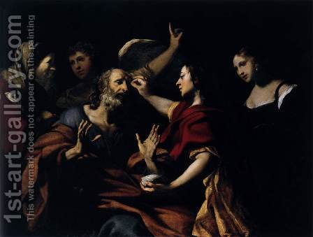 Tobias Healing the Blindness of His Father by Jacques Blanchard - Reproduction Oil Painting