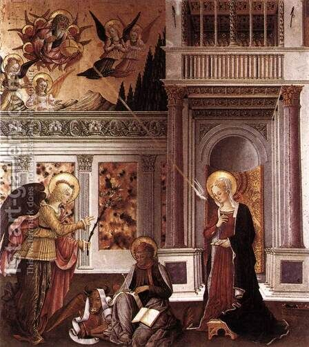 Annunciation 1455-60 by Benedetto Bonfigli - Reproduction Oil Painting