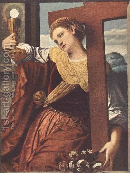 Allegory of Faith 1530s by Alessandro Bonvicino (Moretto da Brescia) - Reproduction Oil Painting