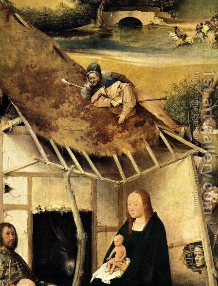 Adoration of the Magi (detail 2) c. 1510 by Hieronymous Bosch - Reproduction Oil Painting