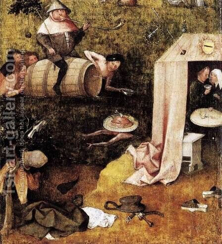 Allegory of Gluttony and Lust by Hieronymous Bosch - Reproduction Oil Painting
