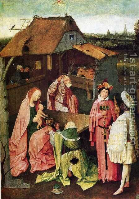 Epiphany 1475-80 by Hieronymous Bosch - Reproduction Oil Painting