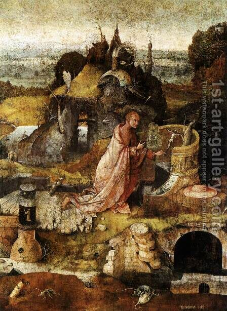 Hermit Saints Triptych (central panel) by Hieronymous Bosch - Reproduction Oil Painting