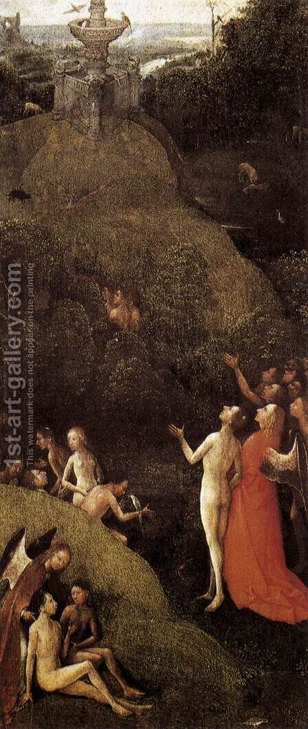 Paradise - Terrestrial Paradise by Hieronymous Bosch - Reproduction Oil Painting
