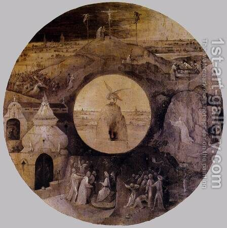 St John the Evangelist on Patmos (reverse) by Hieronymous Bosch - Reproduction Oil Painting