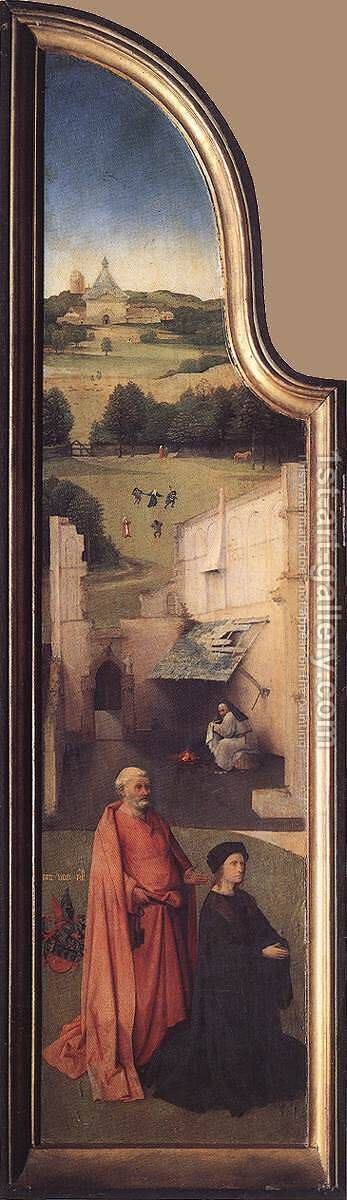 St Peter with the Donor (left wing) c. 1510 by Hieronymous Bosch - Reproduction Oil Painting