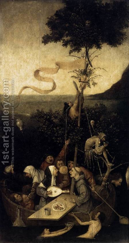 The Ship of Fools 1490-1500 by Hieronymous Bosch - Reproduction Oil Painting