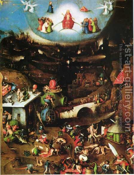 Triptych of Last Judgement (central panel) by Hieronymous Bosch - Reproduction Oil Painting