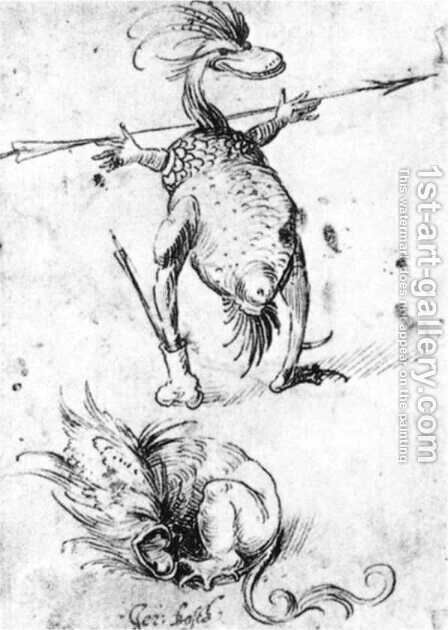Two Monsters by Hieronymous Bosch - Reproduction Oil Painting