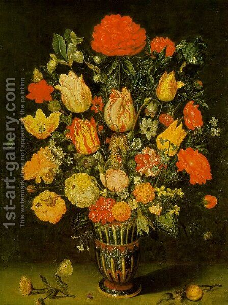 Still-Life of Flowers by Ambrosius the Elder Bosschaert - Reproduction Oil Painting