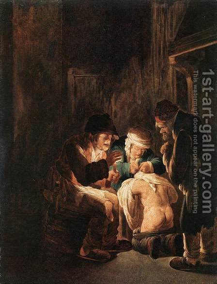 Hunting by Candlelight 1630 by Andries Both - Reproduction Oil Painting